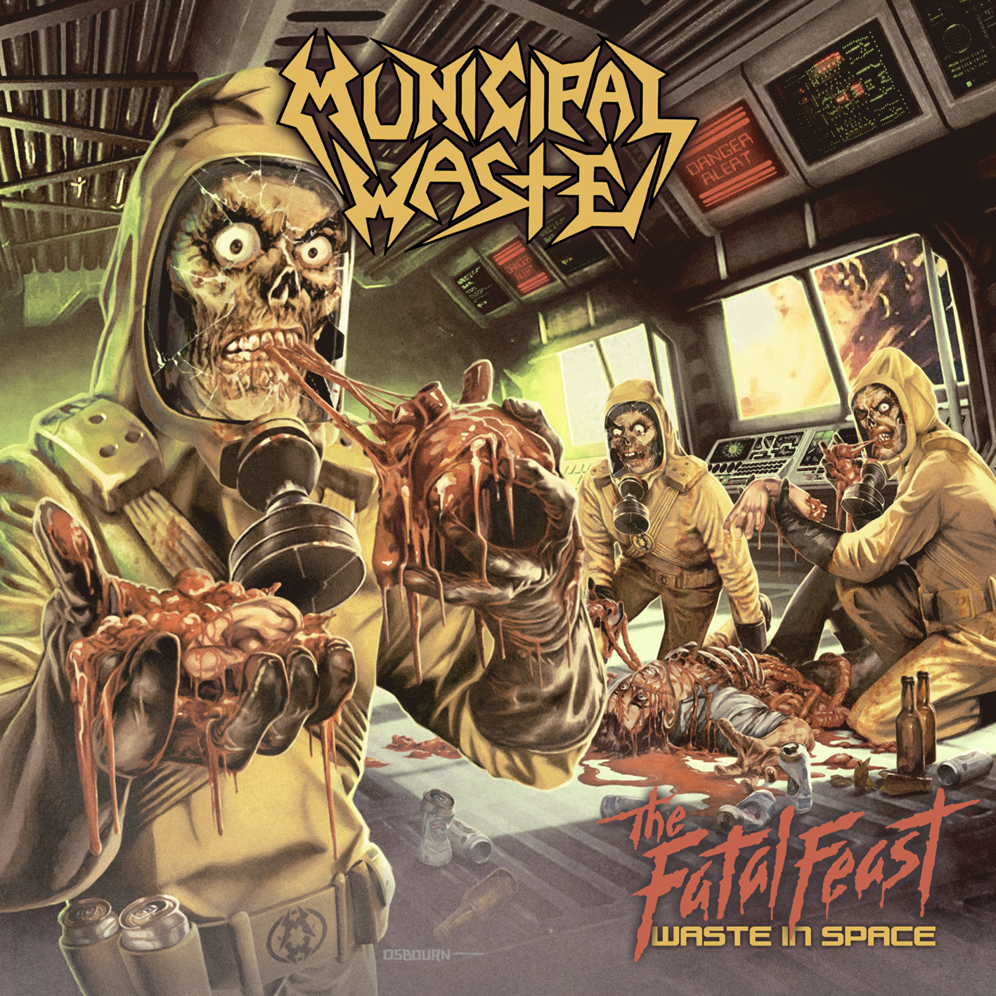 Municipal Waste – The Fatal Feast (Waste in Space) Review
