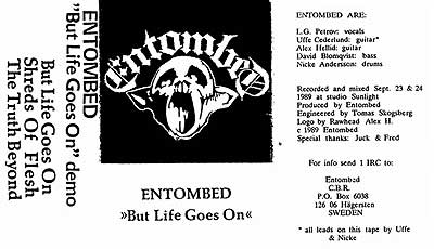 Entombed - But Life Goes On inlay