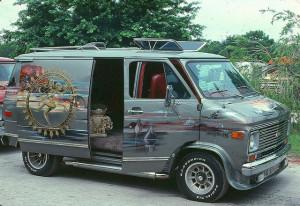 Painted van