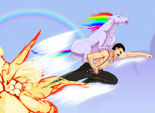 Unicorn with Fredie Mercury